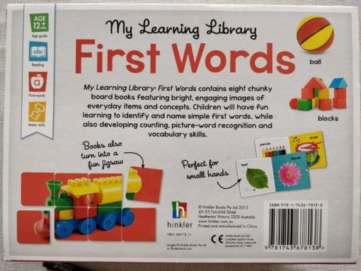 My Learning Library First Words - Back