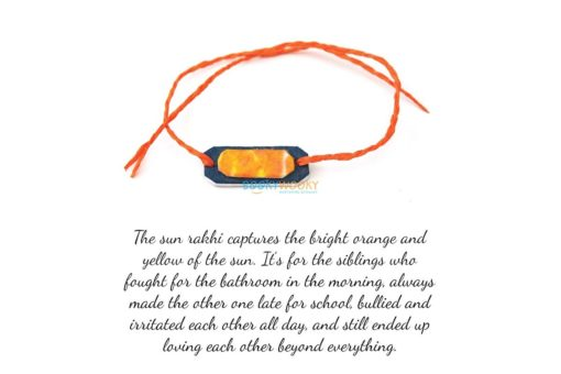 sun rakhi with text