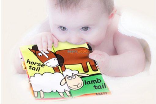 Farm Tails cloth book inside 1