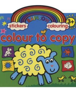 Rainbow Stickers Colouring Colour to Copy cover