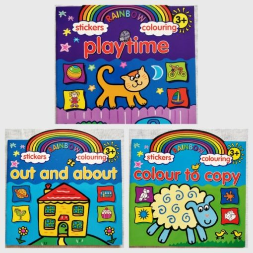 Rainbow Stickers Colouring Set of 3 books