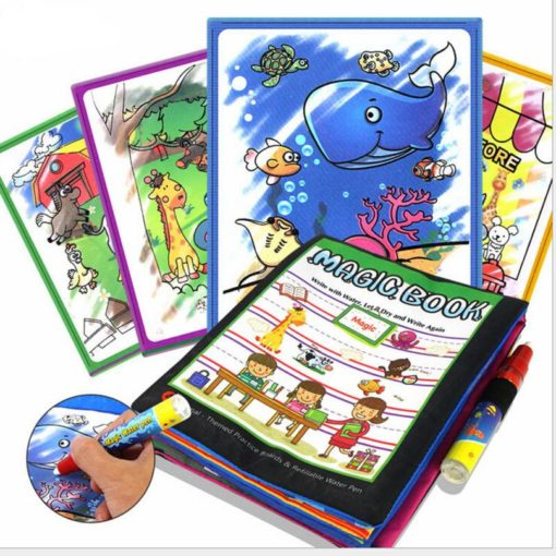 Reusable Magic water colouring book Animals Black Inside (3)