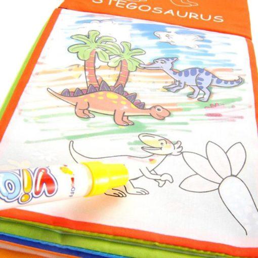 Reusable Magic water colouring book Dinosaurs Inside (1)