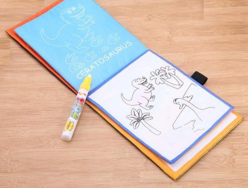 Reusable Magic water colouring book Dinosaurs Inside (2)