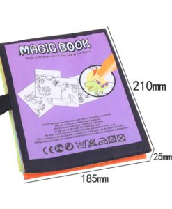 Reusable Magic water colouring book Dinosaurs Inside (4) back with size