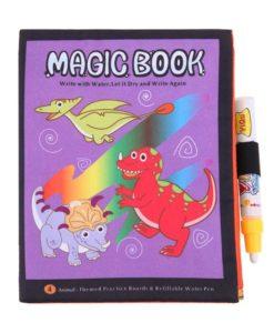 Reusable Magic water colouring book Dinosaurs cover