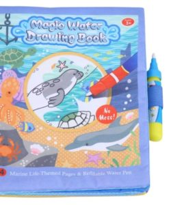 Reusable Magic water colouring book Marine Life
