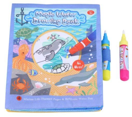 Reusable Magic water colouring book Marine Life