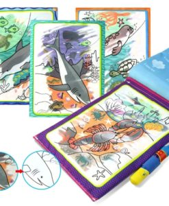 Reusable Magic water colouring book Marine Life Inside1