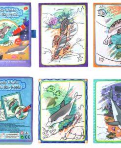 Reusable Magic water colouring book Marine Life Inside2