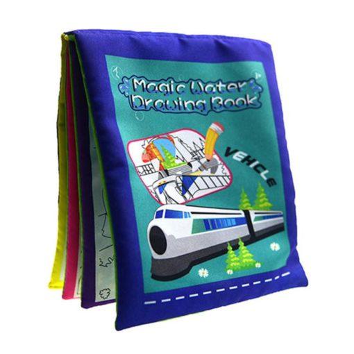 Reusable Magic water colouring book Vehicle