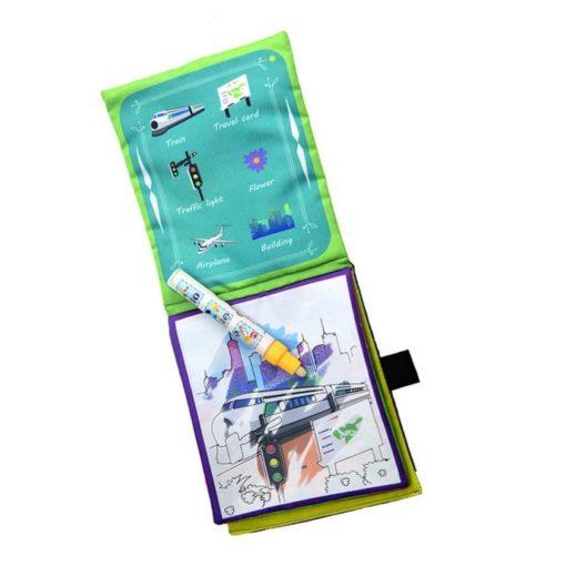 Reusable Magic water colouring book Vehicle2