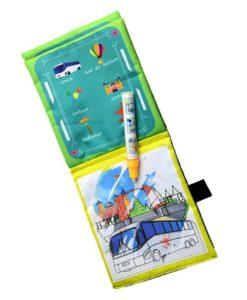 Reusable Magic water colouring book Vehicle4