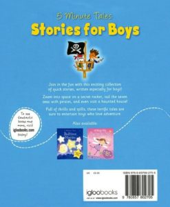 5 Minute Tales Stories for Boys 9780857802705 Back Cover (2)