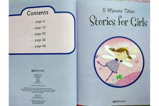 5 Minute Tales Stories for Girls Index Contents Page