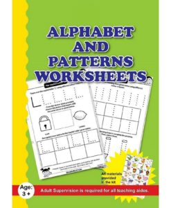 Alphabet and Patterns Worksheets with sticker