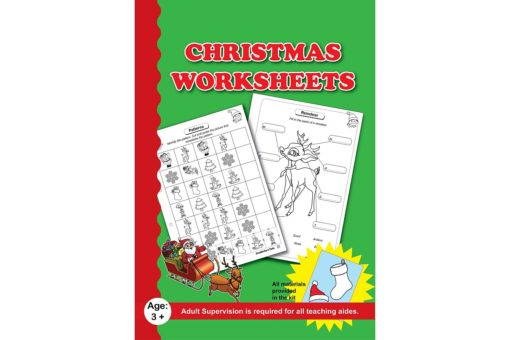 Christmas Worksheets with craft material