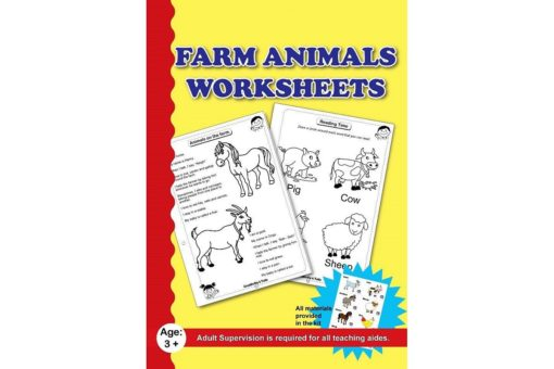 Farm Animals Worksheet with craft material