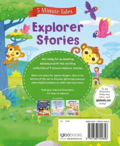 Five Minute Tales Explorer Stories Igloo Books Back Cover 9781786704856 (2)
