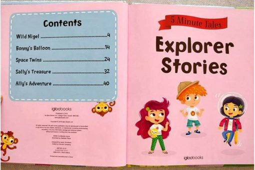 Five Minute Tales Explorer Stories Igloo Books Index Contents List 9781786704856