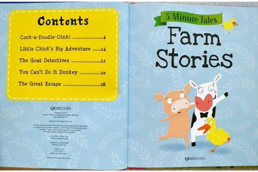 Five Minute Tales Farm Stories Igloo Books 9781785576317 Index Page Conents List