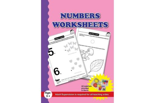 Numbers Worksheets with Craft Material