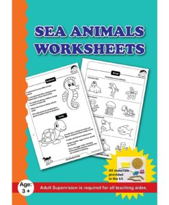Sea Animals Worksheets with Craft Material