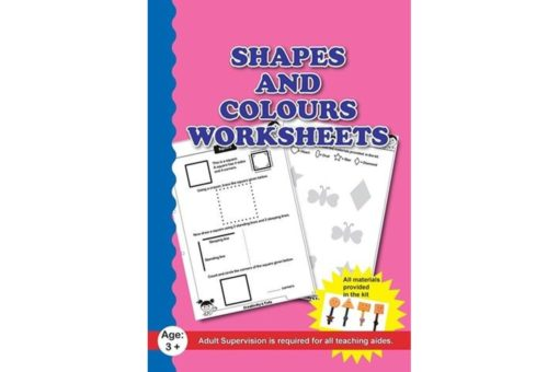 Shapes and Colours Worksheets with Craft Material