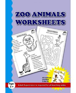 Zoo Animals Worksheet with craft material