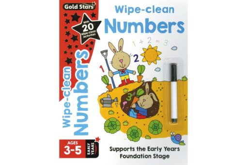 Gold Stars Wipe-Clean Numbers