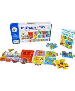 Building Blocks 123 Puzzle Train