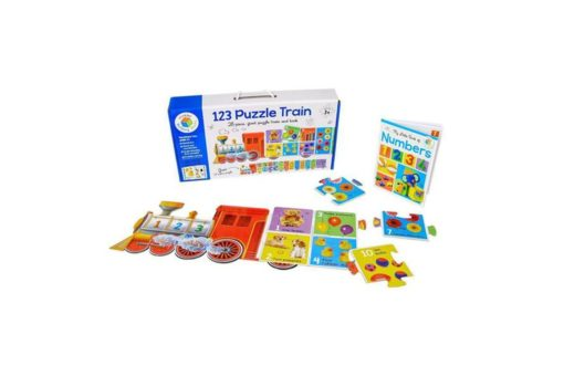 Building Blocks 123 Puzzle Train