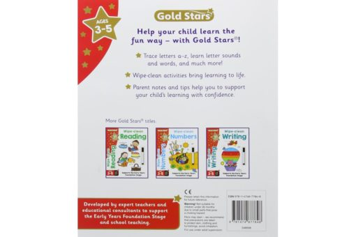 Gold Stars Wipe-Clean Alphabet