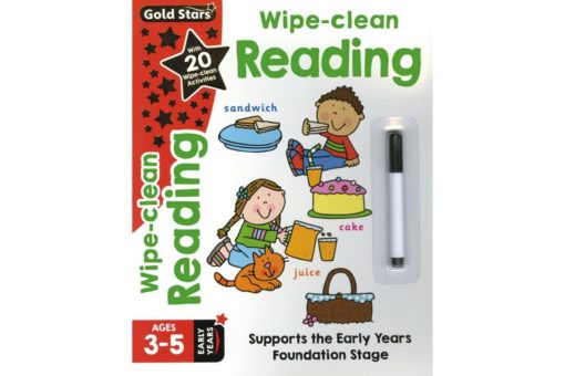 Gold Stars Wipe-Clean Reading