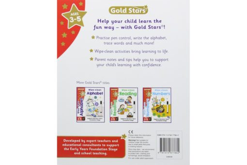 Gold Stars Wipe-Clean Writing