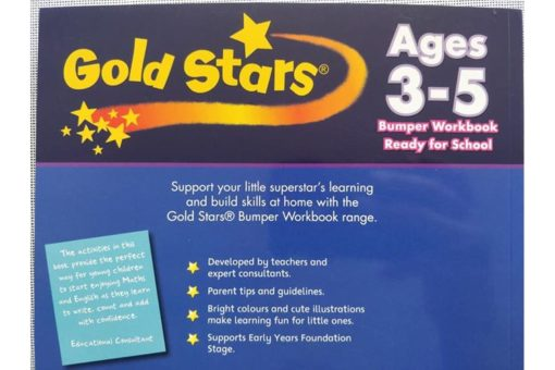 Gold Stars Workbooks Ready For School Bumper Workbook ages 3 - 5 Backside