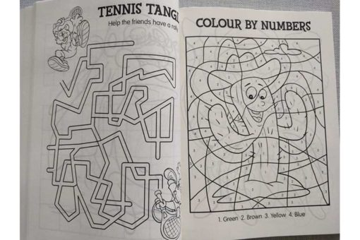 Jumbo Fun Colouring and Activity Book Blue