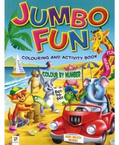 Jumbo Fun Colouring and Activity Book Green