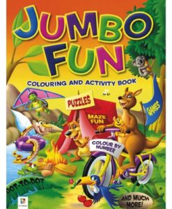 Jumbo Fun Colouring and Activity Book Orange