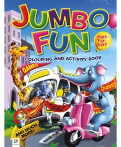 Jumbo Fun Colouring and Activity Book Purple