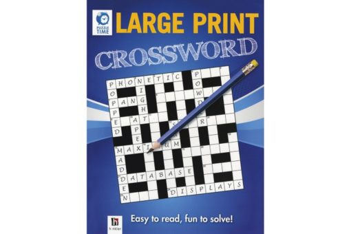 Puzzle Time Large Print Crossword Blue