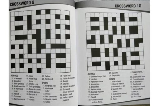 Puzzle Time Large Print Crossword Blue Inside1