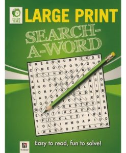 Puzzle Time Large Print Search A Word Green