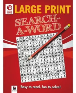 Puzzle Time Large Print Search A Word Red