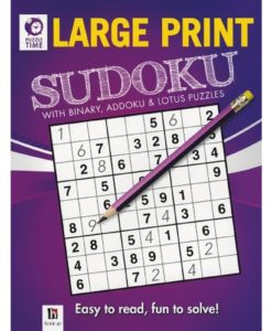Puzzle Time Large Print Sudoku Purple