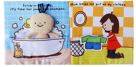 Its Bath time Cloth Book Quiet Book inside1