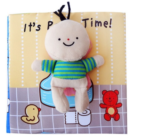 Its Potty time Cloth Book Quiet Book cover