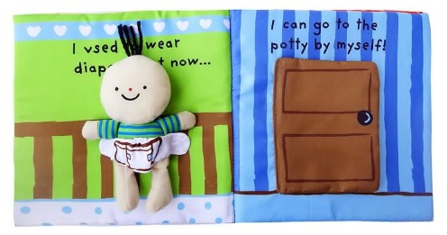 Its Potty time Cloth Book Quiet Book inside