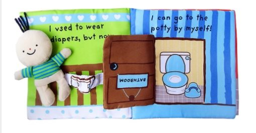 Its Potty time Cloth Book Quiet Book inside2