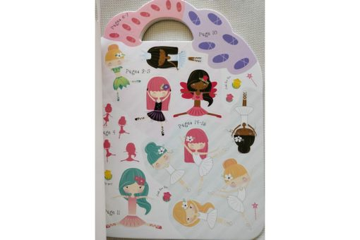 Ballerina Sticker Activity Carry Case Bookoli sticker pages (2)